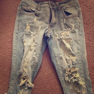 Rue 21 High Rise Distressed Skinny Jeans